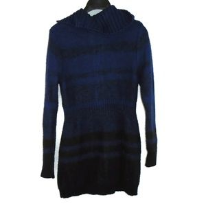 Merona Dresses - Merona Sweater Dress Small Blue Black Fitted Mini
